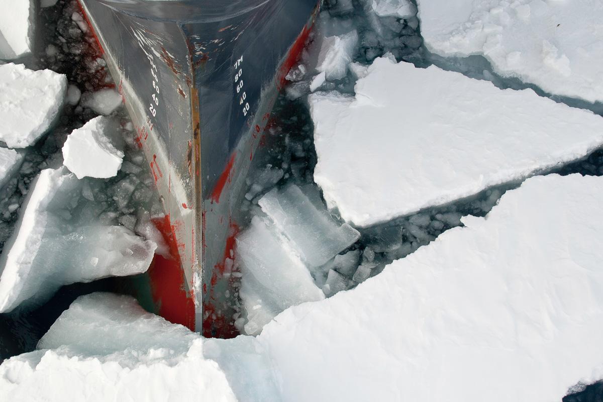 El metal contra el hielo